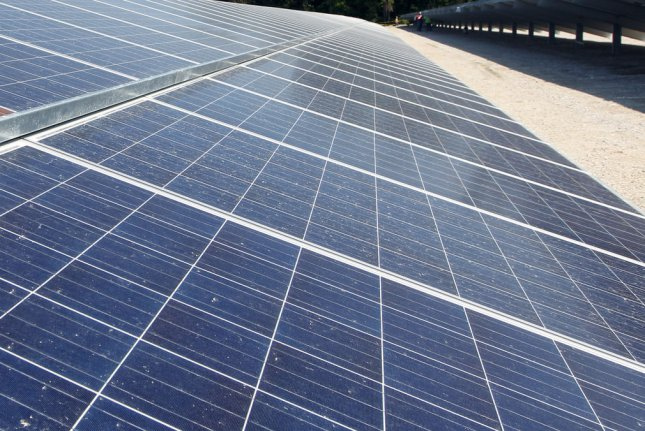 A U.S. solar power trade group said momentum for the industry is throttled by higher costs, though installations continue at a good clip. File photo by Bill Greenblatt/UPI.