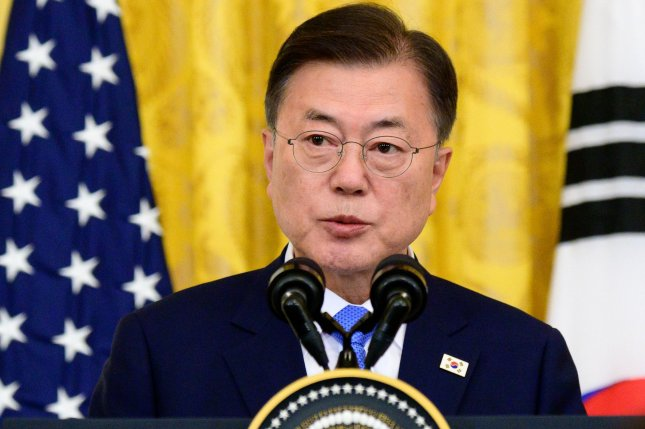 South Korean President Moon Jae-in expressed desire to resume diplomacy with North Korea during a phone call with Vietnam's Nguyen Phu Trong Thursday. File Photo by Erin Scott/UPI