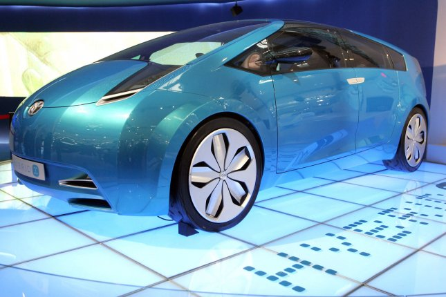 Toyota's new concept hybrid cars are displayed at the 2008 Beijing Auto Show on April 22, 2008. (UPI Photo/Stephen Shaver)