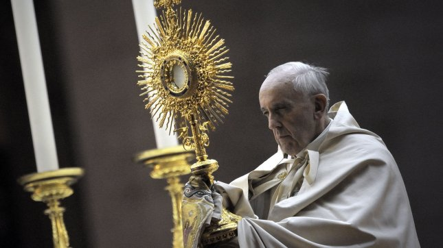 Pope Francis prays vigil in Saint Peter Square at the Vatican on September 7, 2013. The Pope has called for a global day of fasting and prayer for peace in Syria and against any armed intervention. UPI/Stefano Spaziani