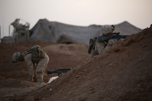 The Pentagon has sent more than 100 Marines to reinforce At Tanf Garrison in southern Syria. File Photo by Sgt. Matthew Callahan/U.S. Marine Corps/UPI