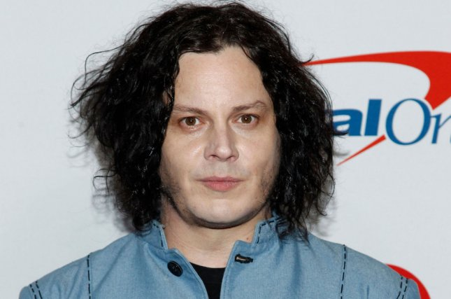 Jack White arrives for the iHeartRadio Music Festival in Las Vegas Friday. The musician donated $30,000 to a fundraising effort to transform the Oklahoma house from The Outsiders movie into a museum. Photo by James Atoa/UPI