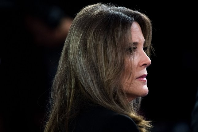 Marianne Williamson, shown here speaking at the CNN Democratic presidential debate in July, introduced her plan for slavery reparations Wednesday. Photo by Kevin Dietsch/UPI