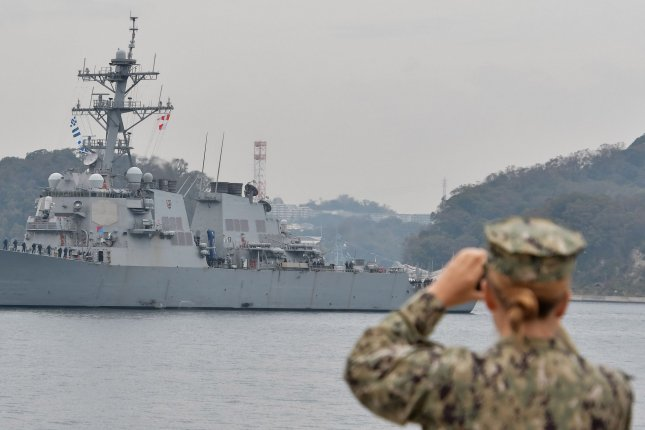 China said Tuesday its military warned the USS John S. McCain after it entered waters near the disputed Spratly Islands. File Photo by Keizo Mori/UPI