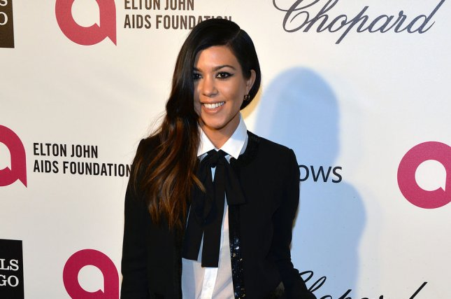 Kourtney Kardashian arrives for the Elton John AIDS Foundation Academy Awards Viewing Party in Los Angeles on March 2, 2014. Photo by Christine Chew/UPI