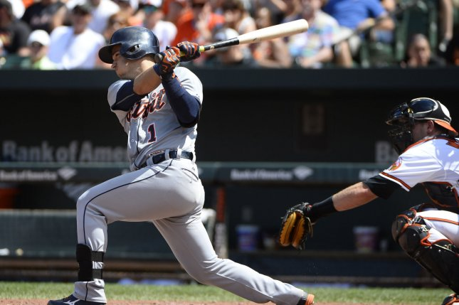 Detroit Tigers' Jose Iglesias (1). Photo by David Tulis/UPI