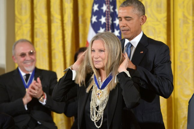 President Barack Obama awards the Medal of Freedom to singer Barbra Streisand during a ceremony at the White House in Washington, D.C. November 24, 2015. File Photo by Kevin Dietsch/UPI