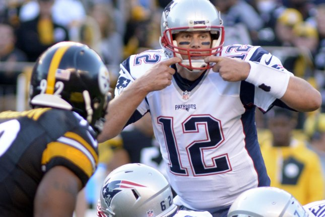 New England Patriots quarterback Tom Brady (12) signals to his offense in the second quarter against the Pittsburgh Steelers at Heinz Field in Pittsburgh on October 23, 2016. Photo by Archie Carpenter/UPI