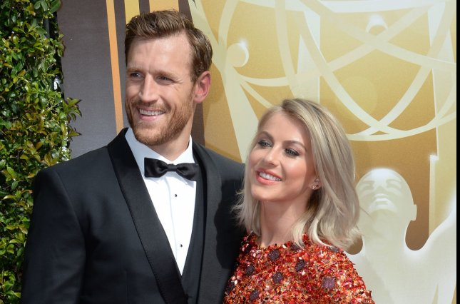 Julianne Hough (R) and Brooks Laich attend the Creative Arts Emmy Awards on September 12, 2015. The dancer couldn't help but gush about Laich in a post Monday. File Photo by Jim Ruymen/UPI