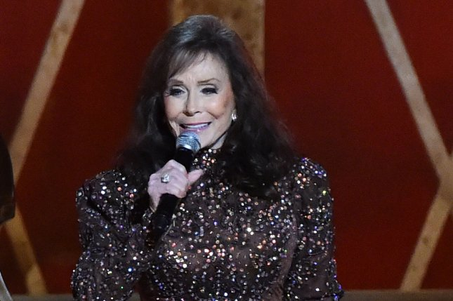 Country great Loretta Lynn performs during the 48th Annual Country Music Awards at Bridgestone Arena in Nashville on November 5, 2014. She suffered a stroke and was hospitalized this week. File Photo by Kevin Dietsch/UPI