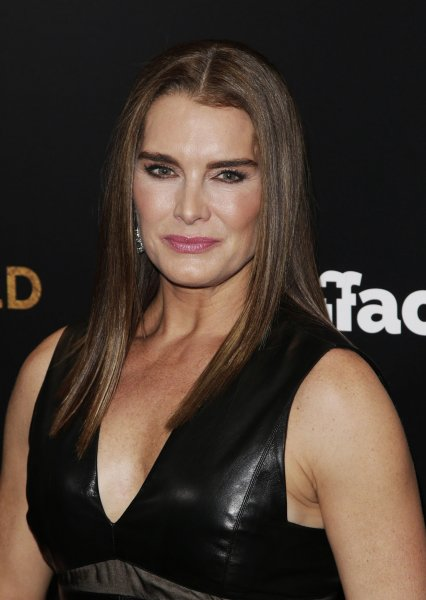 Brooke Shields arrives on the red carpet at the New York premiere of Woman in Gold on March 30, 2015. The actress is guest starring on Law & Order: SVU this season. File Photo by John Angelillo/UPI