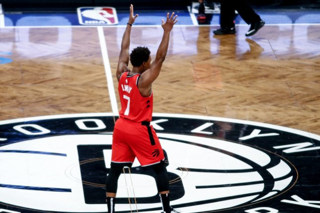 Toronto Raptors star Kyle Lowry scored 22 points and had six assists and five rebounds in a win against the New Orleans Pelicans Tuesday in Toronto. File Photo by Nicole Sweet/UPI