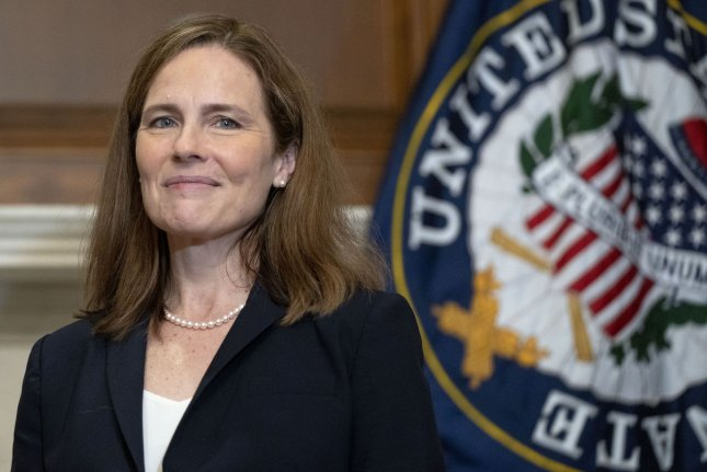 Supreme Court Justice Amy Coney Barrett issued her first majority opinion on Thursday, denying a Freedom of Information Request seeking EPA consultations on a rule regulating environmental intake structures. FilePhoto by Leigh Vogel/UPI