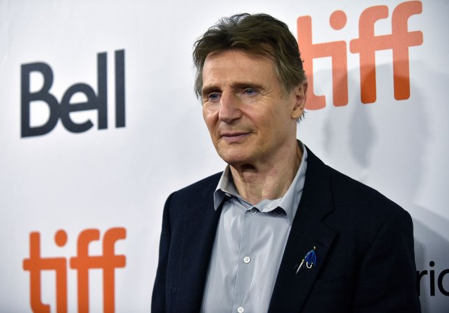 Liam Neeson was at a Friday night screening of his film, The Marksman, as the AMC Lincoln Square theater reopened in New York after nearly a year of being shuttered because of the coronavirus pandemic. File Photo by Christine Chew/UPI