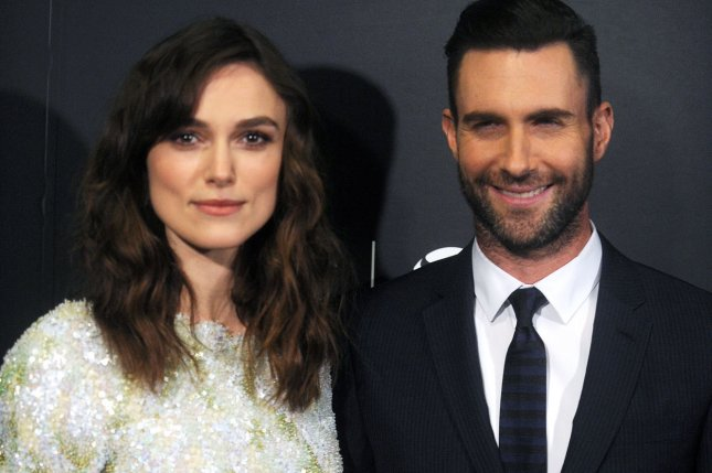 Adam Levine and Keira Knightley arrive on the red carpet at the 'Begin Again' Closing Night Premiere at the 2014 Tribeca Film Festival last year. File Photo by Dennis Van Tine/UPI