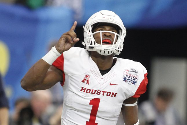 Houston quarterback Greg Ward Jr. returns to face the Cincinnati Bearcats on Thursday night after sitting out last week with a shoulder injury. Photo by Tami Chappell/UPI