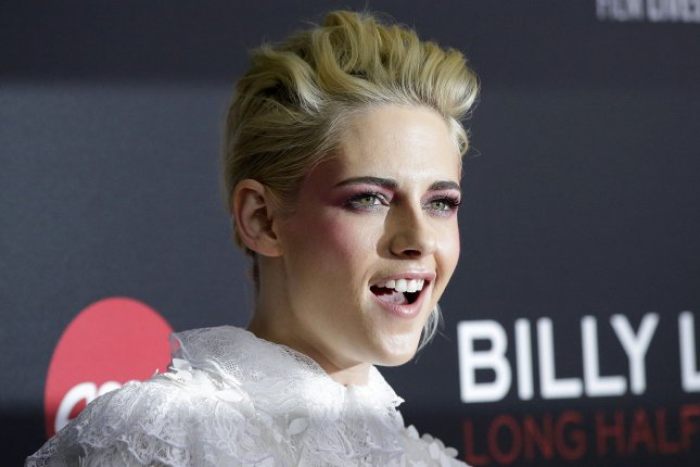 Kristen Stewart at the New York Film Festival premiere of Billy Lynn's Long Halftime Walk on October 14. The actress stars in The Rolling Stones' new music video. File Photo by John Angelillo/UPI