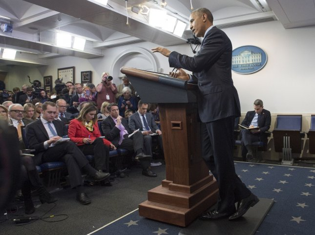 With another 153 commutations and 78 pardons, President Barack Obama granted more acts of clemency in one day than any president in history, and brought his eight-year total to 1,324, one of the highest totals in history. Pictured, Obama speaks during his year end press conference at the White House in Washington, D.C. on December 16. File photo by Kevin Dietsch/UPI