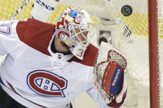 Antti Niemi and the Montreal Canadiens take on the Los Angeles Kings on Friday. Photo by Archie Carpenter/UPI