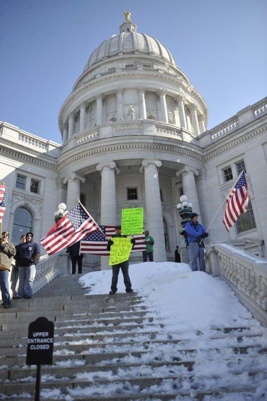Wisconsin State Capitol. UPI/David Banks