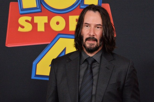 Keanu Reeves attends the Los Angeles premiere of Toy Story 4 on Tuesday. Photo by Jim Ruymen/UPI