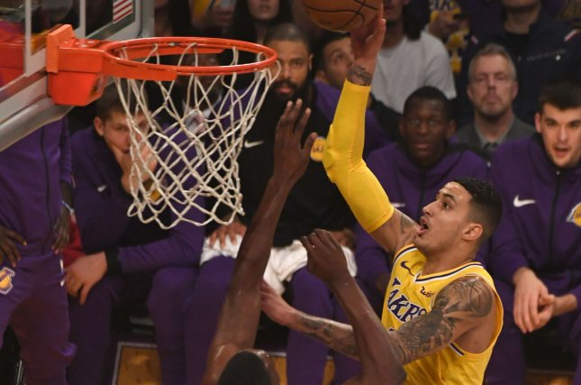 Kuzma not ready to practice with Lakers due to foot injury