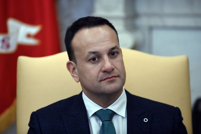 Leo Varadkar said he would stay on in a caretaker capacity until Ireland's parliament elects a new leader. File Photo by Olivier Douliery/UPI