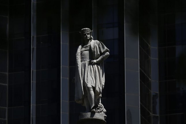 Researchers say Christopher Columbus -- a statue of him is seen in New York City's Columbus Circle -- may not have been responsible for introducing syphilis to Europe, based on archaeological human remains from three countries. Photo by John Angelillo/UPI