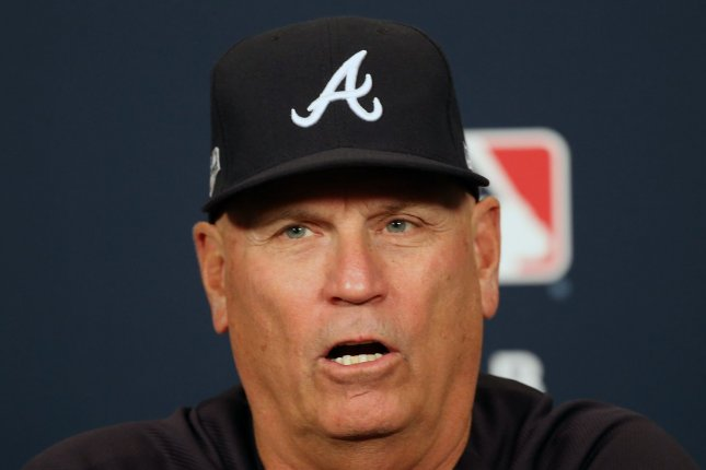 Atlanta Braves manager Brian Snitker, the 2018 National League Manager of the Year, is now under contract through 2023, thanks to the extension he signed Friday. File Photo by Bill Greenblatt/UPI