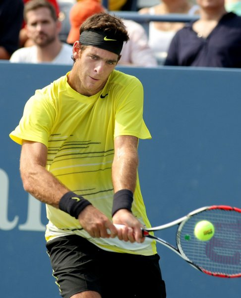 Juan Martin Del Potro, shown at the 2011 U.S. Open, picked up a second-round win Wednesday at the Erste Bank Open tournament in Vienna, Austria. UPI/Monika Graff