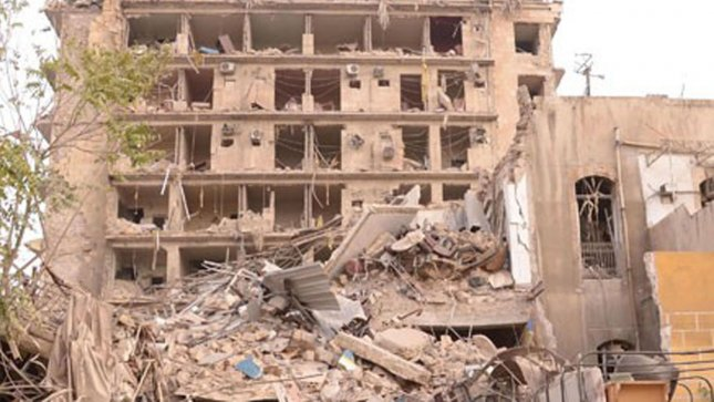 In this photo released by the Syrian official news agency SANA, rubble is shown at the scene where multiple bombs explosions hit the center of Aleppo, Syria on October 3, 2012. UPI