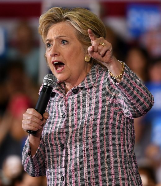 Presidential candidate Hillary Clinton speaks during a rally discussing an economy that works for everyone not just the top at Coral Springs Gymnasium in Coral Springs, Florida on September 30, 2016. WikiLeaks has reportedly released emails containing excerpts from Clinton's private paid speeches which took place before her presidential bid. Clinton's campaign would not verify the authenticity of the documents. File Photo by Gary I Rothstein/UPI