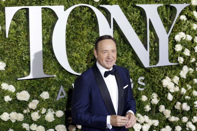 Kevin Spacey arrives on the red carpet at the 71st Annual Tony Awards at Radio City Music Hall on June 11, 2017 in New York City. Photo by John Angelillo/UPI