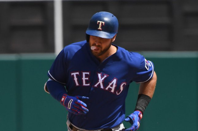 Texas Rangers putfielder Joey Gallo has 17 home runs this year. File Photo by Terry Schmitt/UPI
