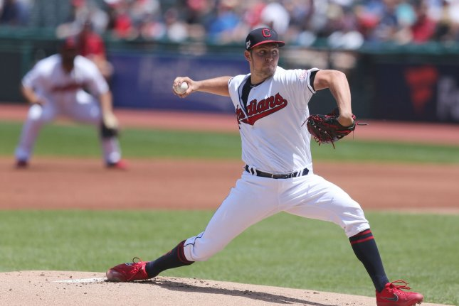 Trevor Bauer pitched for the Cleveland Indians for seven seasons before he was traded this week. File Photo by Aaron Josefczyk/UPI