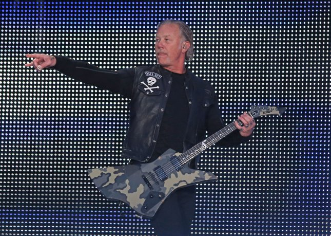 Musician James Hetfield of Metallica has entered rehab to deal with his addiction issues. File Photo by David Silpa/UPI