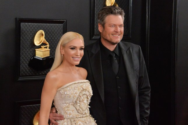 Blake Shelton (R) and Gwen Stefani will perform during the ACM Presents: Our Country special April 5. File Photo by Jim Ruymen/UPI