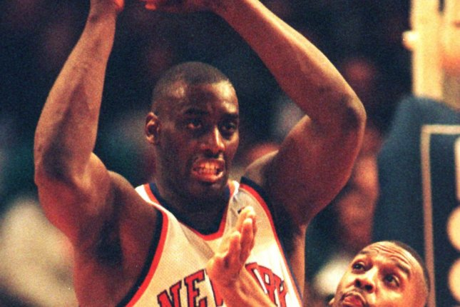 Anthony Mason is in critical condition after a heart attack and subsequent surgeries. UPI cc/Jason Szenes