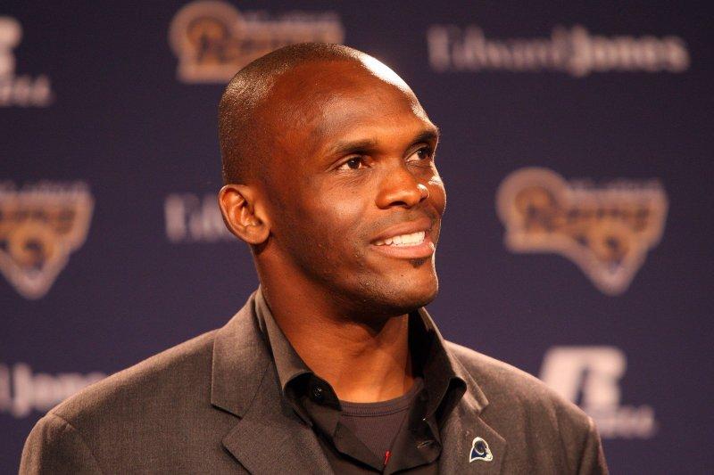 Former St. Louis Rams wide receiver Isaac Bruce. UPI/Bill Greenblatt