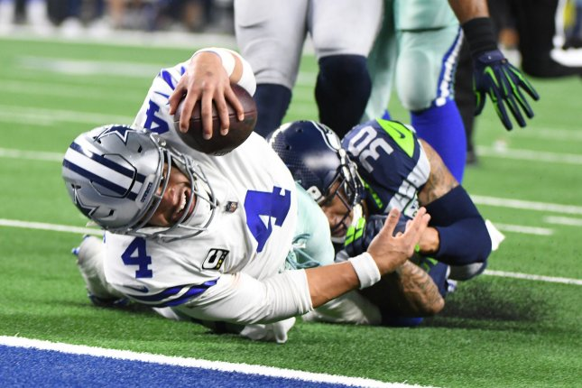 Dallas Cowboys quarterback Dak Prescott could become the highest-paid player in franchise history before the 2019 season if the team decides to sign him to a long-term contract. File Photo by Ian Halperin/UPI