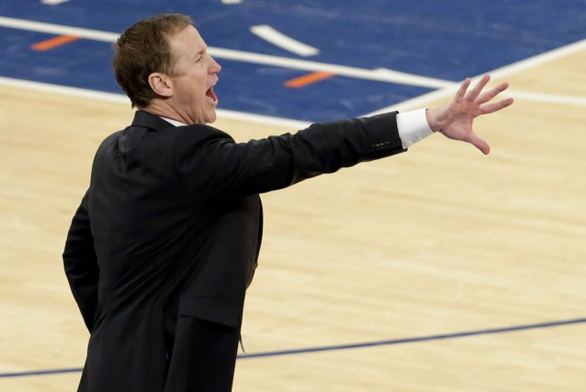 Portland Trail Blazers head coach Terry Stotts and his team were swept in the Western Conference finals. The Golden State Warriors defeated the Blazers in four games to reach the NBA Finals on Monday. File Photo by John Angelillo/UPI