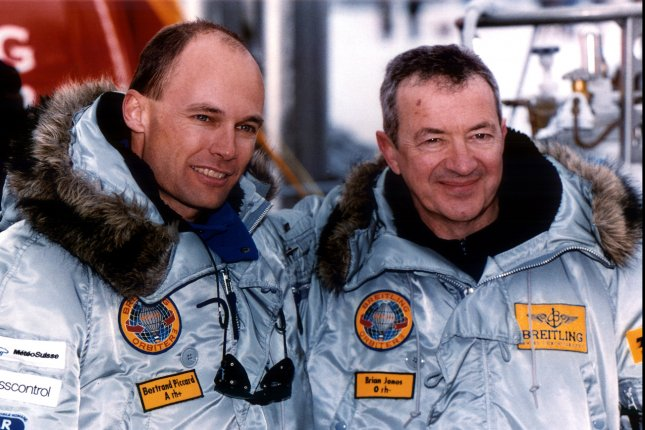 On March 21, 1999, Bertrand Piccard and Brian Jones landed near Cairo after becoming the first people to circle the globe by balloon. UPI File Photo