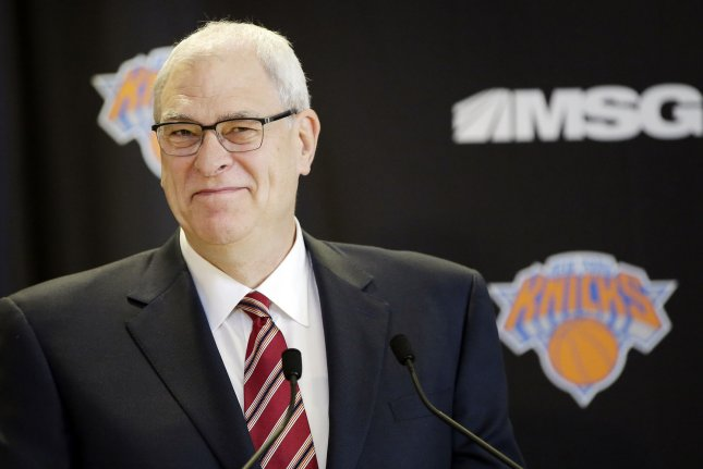 Phil Jackson appears at a press conference at Madison Square Garden in New York City on March 18, 2014. Jackson turns 75 on September 17. File Photo by John Angelillo/UPI