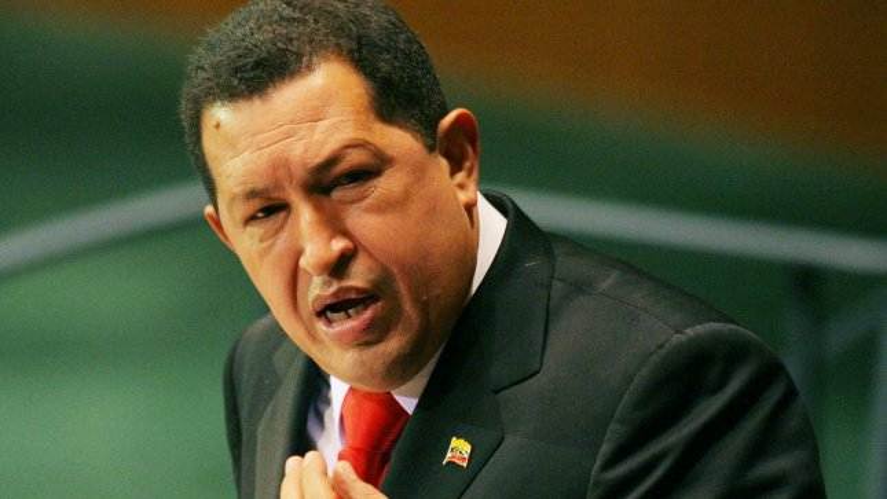 Venezuelan President Hugo Chavez Frias addresses the 64th General Assembly at the United Nations on September 24, 2009 in New York City. UPI /Monika Graff
