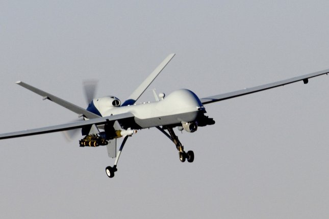 MQ-9 Reaper unmanned aerial attack vehicle. FILE/UPI/Brian Ferguson/U.S. Air Force