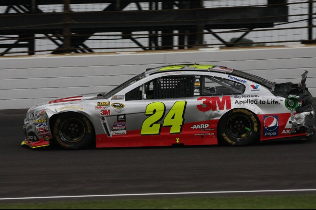 5 time Brickyard 400 winner Jeff Gordon. Photo by Bill Coons/UPI