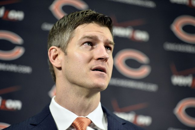 Chicago Bears general manager Ryan Pace at a press conference at Halas Hall on January 19, 2015 in Lake Forest, Illinois. File photo by Brian Kersey/UPI