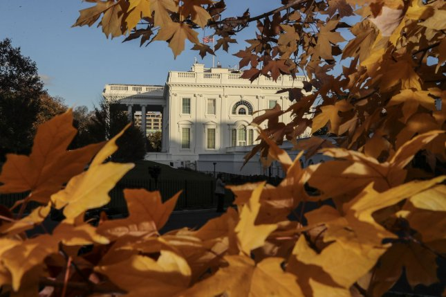 A view of the north side of the White House is seen amid autumn colors on November 10 in Washington, D.C. Photo by Oliver Contreras/UPI