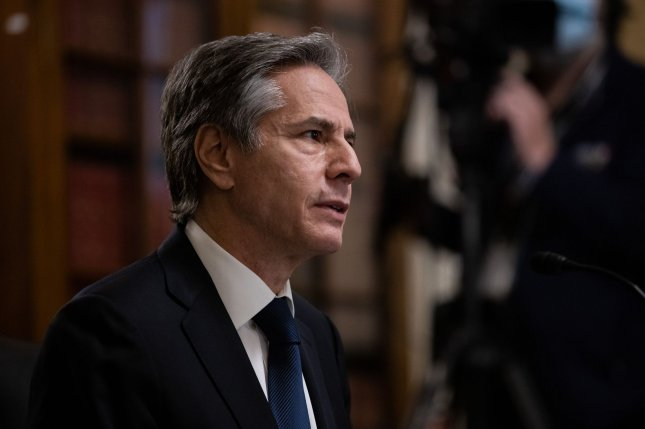 U.S. Secretary of State Antony Blinken and the so-called E3 nations said Thursday that the United States would be open to negotiations with Iran for both nations to reach compliance with the Iran nuclear deal. FilePool Photo by Graeme Jennings/UPI