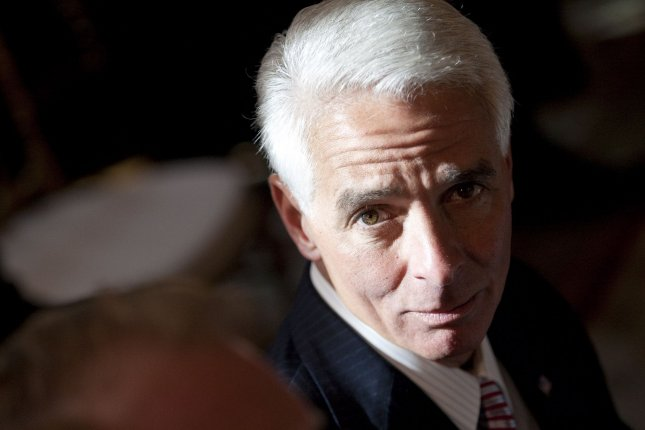 Then-Florida Gov. Charlie Crist attends a meeting with President Barack Obama and members of the National Governors Association at the White House in Washington, D.C., on February 22, 2010. File Photo by Andrew Harrer/UPI